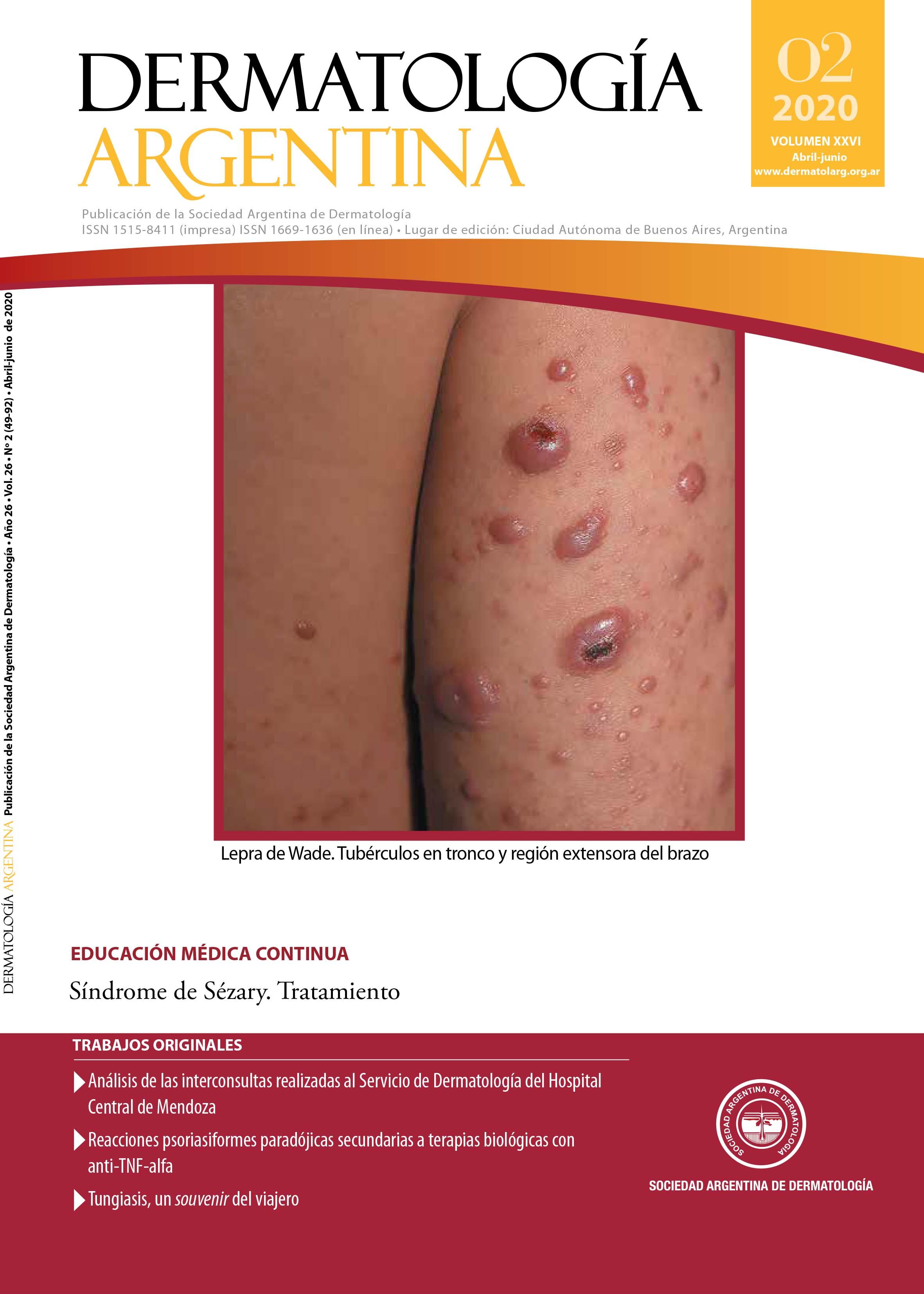 Revista Dermatología Argentina Nº 2 de 2020